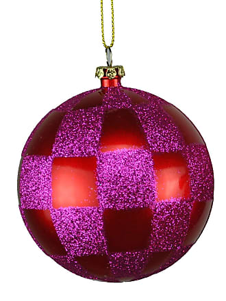 Queens of Christmas Glitter Leaf Clusters and Ball Accents Pick 35 Pink