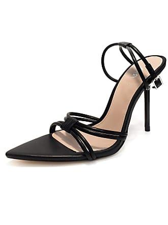 c82ee2bcdbbc ZARA Womens High Heel Strappy Sandals 1372 001 (4 UK) Black