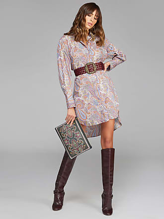 Etro Shirt With Paisley Plant Patterns, Woman, Pink, Size 40
