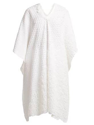 Issey Miyake Retrospect 2 Fringe Embellished Pleated Kaftan - Womens - White