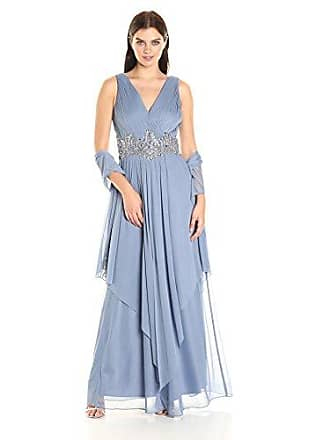cbbb6c91 Alex Evenings Womens Long Gown with Two-Tiered Skirt Dress, Light Blue, 6