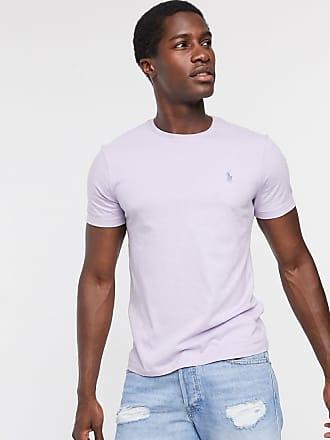 Polo Ralph Lauren T-shirt vestibilità classica custom fit lilla con logo-Viola