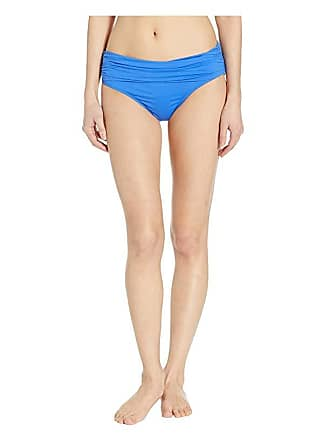 c057a54e0 Delivery: free. Ralph Lauren Beach Club Solids Wide Shirred Banded Hipster  Bottom (Sea Blue) Womens Swimwear