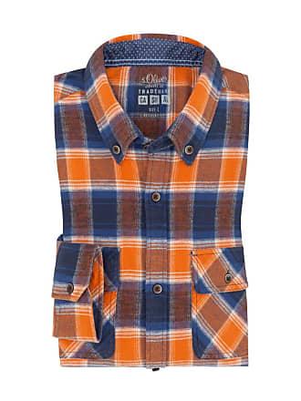 Oliver Übergröße   s. Oliver, Freizeithemd mit Brusttaschen in Orange ... e5dab8cad9