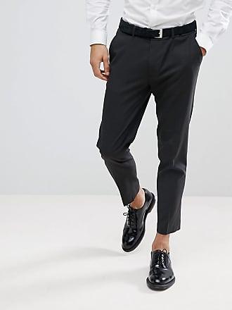 Asos Pantalones de vestir ajustados y capri en color antracita de ASOS  DESIGN e46aa5df142a