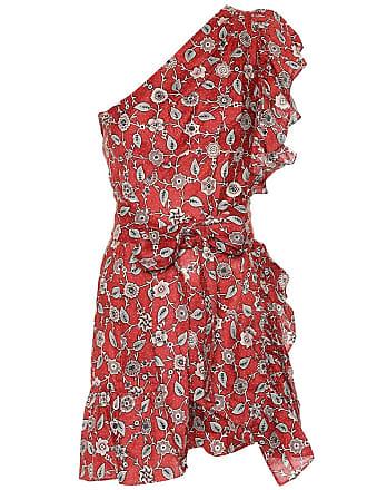 Isabel Marant Teller one-shoulder linen dress