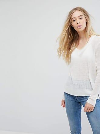 Ichi V-Neck Sweater - White