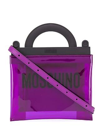 Moschino logo print tote - Purple