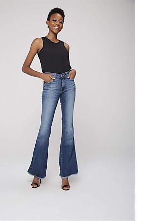 Damyller Calça Boot Cut Jeans Barra Desfiada Tam: 38 / Cor: BLUE