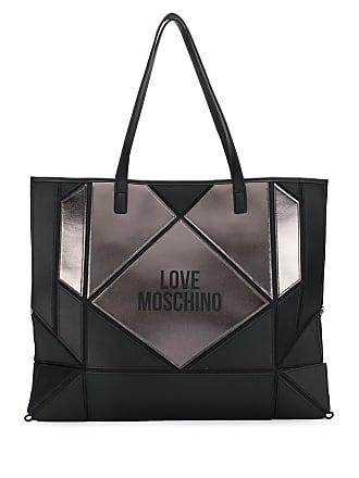 Love Moschino panelled tote bag - Preto