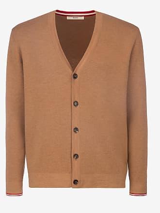 Bally Wool Knit Cardigan Brown 60