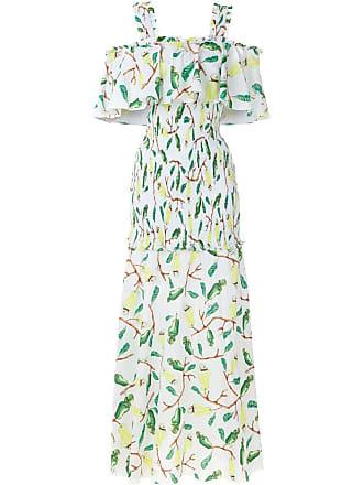 Isolda Vestido longo Urucum estampado