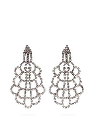 eeebc91f1 Gucci Gg Crystal Drop Earrings - Womens - Crystal