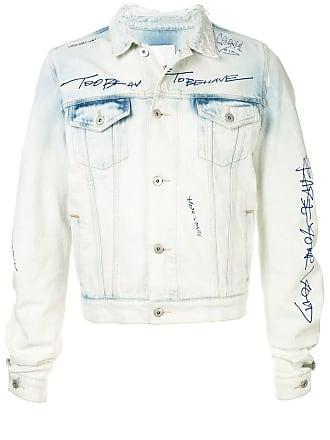 Ground-Zero Jaqueta jeans com estampa - Azul