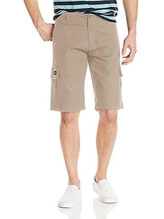 Zoo York Mens Commander Cargo Shorts, Stone 30