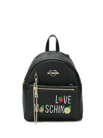 Love Moschino backpack with purse - Black