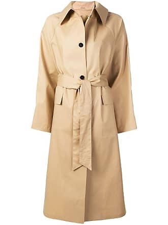 Kassl Editions Trench coat com cinto - Amarelo