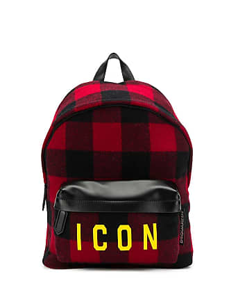 Dsquared2 plaid icon backpack - Preto