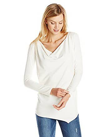 Only Hearts Womens So Fine Cowl Tunic, Creme, Small