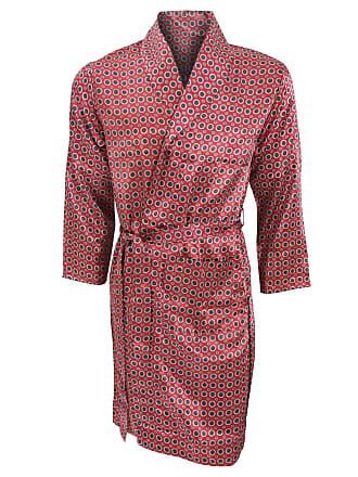 a79b57b6eda9 Universal Textiles Mens Lightweight Traditional Patterned Satin Robe/Dressing  Gown (XXL Chest: 46inch