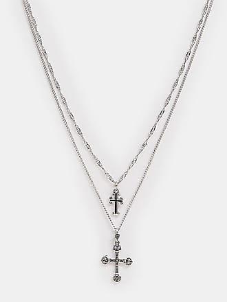 Reclaimed Vintage Inspired - Halsband i flera rader med två kors - Endast  hos ASOS - ba5e08b0aed14