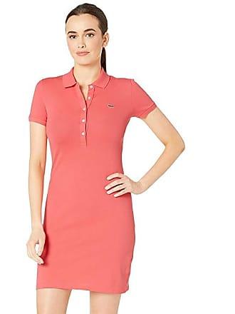 45cb0de59 Lacoste Short Sleeve Pique Polo Dress (Calypso) Womens Dress