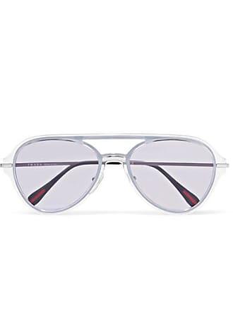 6222de05b5e Prada Aviator-style Silver-tone And Acetate Sunglasses - Purple