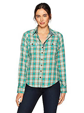Aventura Womens Barclay Ls Top, Green/Blue Slate XL