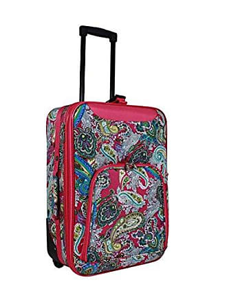 World Traveler Womens 20 Rolling Carry-on Luggage Suitcase, Pink