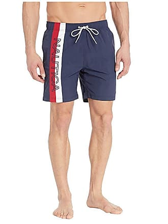 9207256472a7d4 Nautica Surf Washed Color Block Swim Trunks (Navy) Mens Swimwear