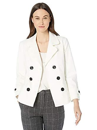 Nic+Zoe Womens ON Board Denim Jacket, Paper White, Extra Small