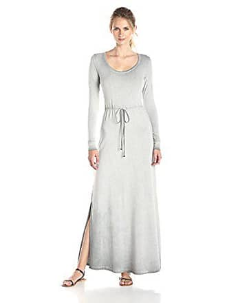 Cosabella Womens Rimini Long Sleeve Maxi Dress, Anthracite Wash, Medium