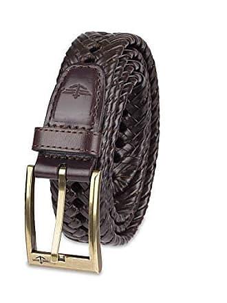 Dockers Mens Braided Belt, brown, 42