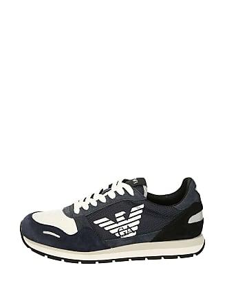 bedcabd2f5d41 Emporio Armani Mens Lace Up Logo Fashion Sneaker Blue+deep Blu+blk 7 Regular