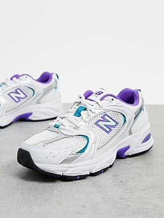 New Balance 530 - Sneaker mit Netzstoff in Weiß und Lila
