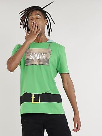 Disney Camiseta Masculina Carnaval 7 Anões Soneca com Capuz Verde