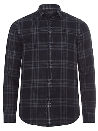 Replay CAMISA MASCULINA PLAID - PRETO