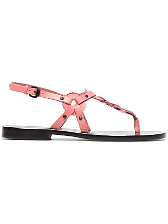 113bd8f10d7d ÁLVARO GONZÁLEZ pink Ando 20 circle detail flat leather sandals