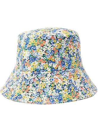 Faithfull The Brand Floral-print Cotton-canvas Bucket Hat - Bright blue