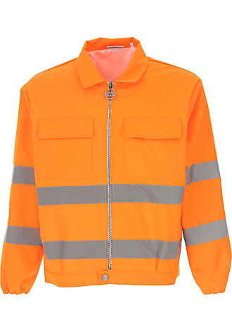 GCDS Jacket for Men On Sale, Fluo Orange, polyester, 2017, L M S