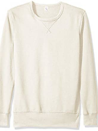 Alternative Mens Vintage Sport French Terry B-Side Reversible Crew Neck, Porcelain, L