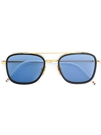 545723bc06 Thom Browne Navy   18k Gold Sunglasses - Blue