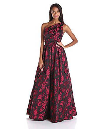 57643f2c3f32 Carmen Marc Valvo Womens One Shoulder Printed Taffeta Ball Gown, Cinnamon,  12