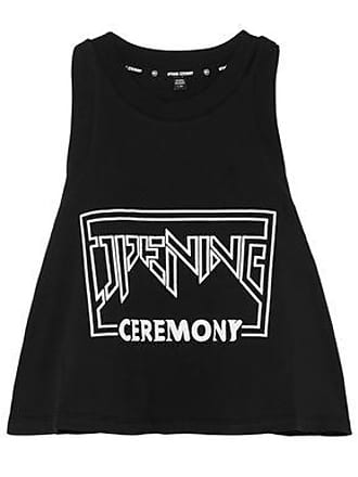 Opening Ceremony Opening Ceremony Woman Torch Cropped Printed Cotton-jersey Tank Black Size XS