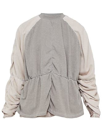 Y / Project Y/project - Reversible Cotton And Linen Blend Sweatshirt - Mens - Grey