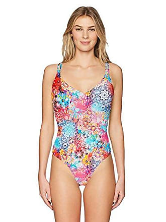 Sunsets Womens Veronica Low V Neck One Piece Swimsuit, Whimsy, Medium