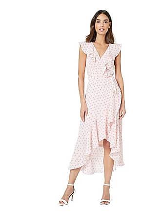 18e116d6e Donna Morgan Sleeveless Printed Chiffon Wrap Dress (Pink/Purple Multi)  Womens Dress