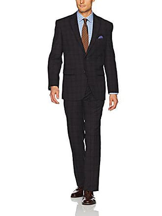 U.S.Polo Association Mens Nested Suit, Grey Plaid, 46 Long