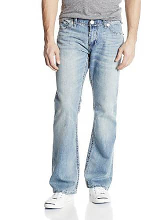 Seven 7 Mens Premium Big Stitch Straight Leg Jean, Sunrise Light Wash, 36/30