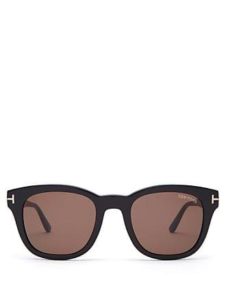 Tom Ford Eyewear Eugenio Round Frame Acetate Sunglasses - Mens - Black
